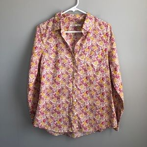 Old Navy Long Sleeve Floral Button Down Shirt M